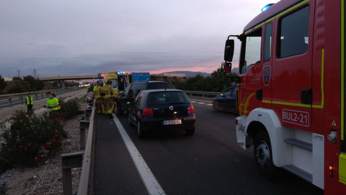 Cinco heridos, 3 graves, en un accidente multiple en Molina