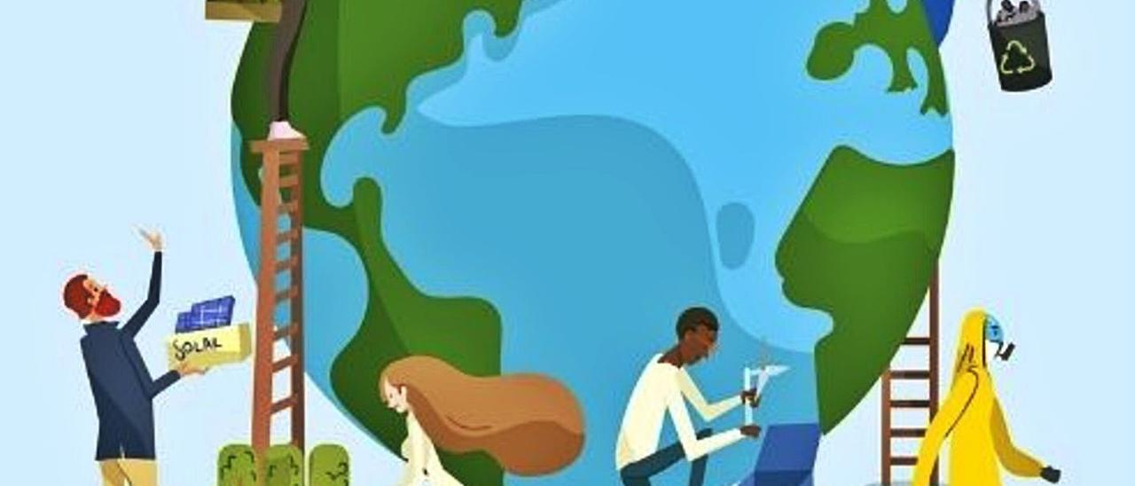 Ilustración de diversos tipos de empleos verdes. | | EDUCAWEB