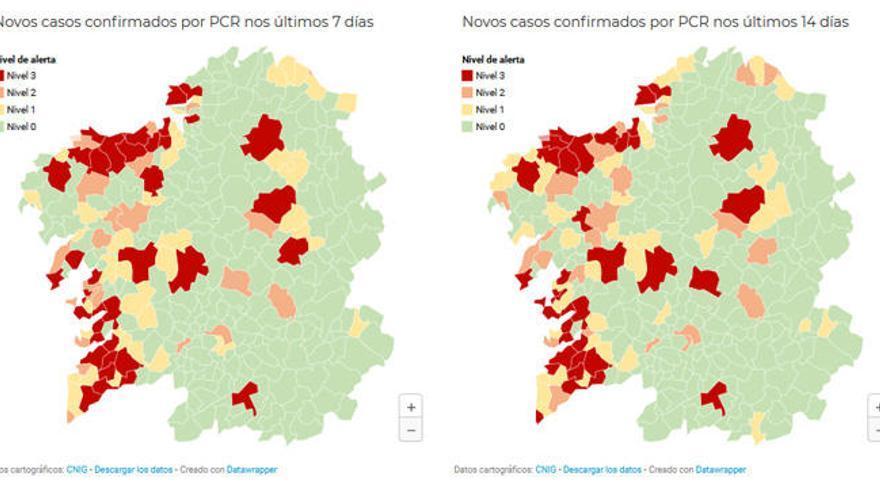37 concellos en alerta roja por la incidencia de Covid-19