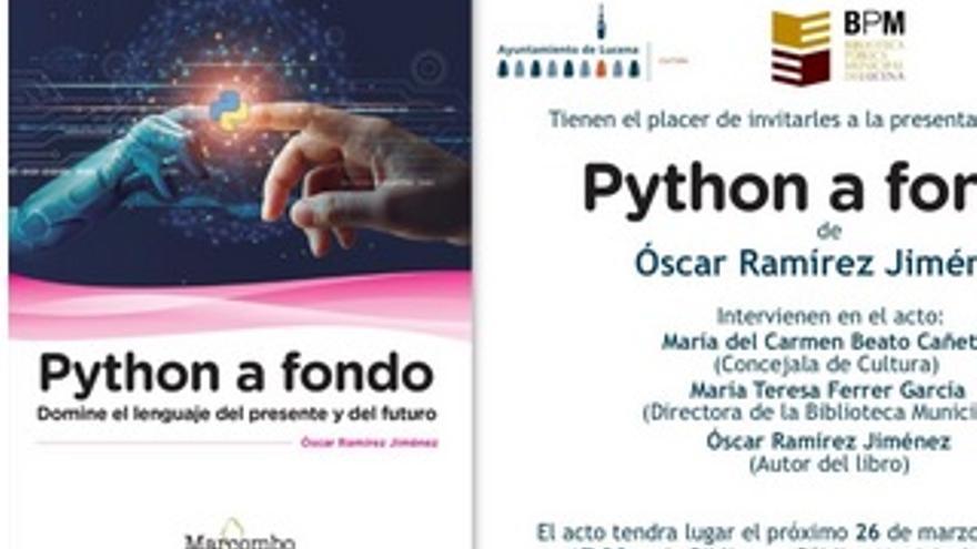 Presentación del libro: 'Python a fondo'
