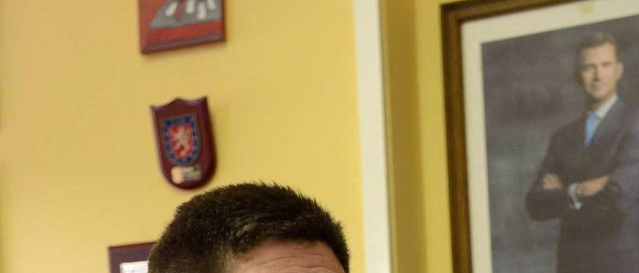 Pedro Aguado, en su despacho.
