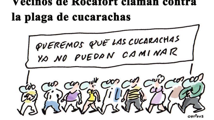 Vecinos de Rocafort claman contra la plaga de cucarachas