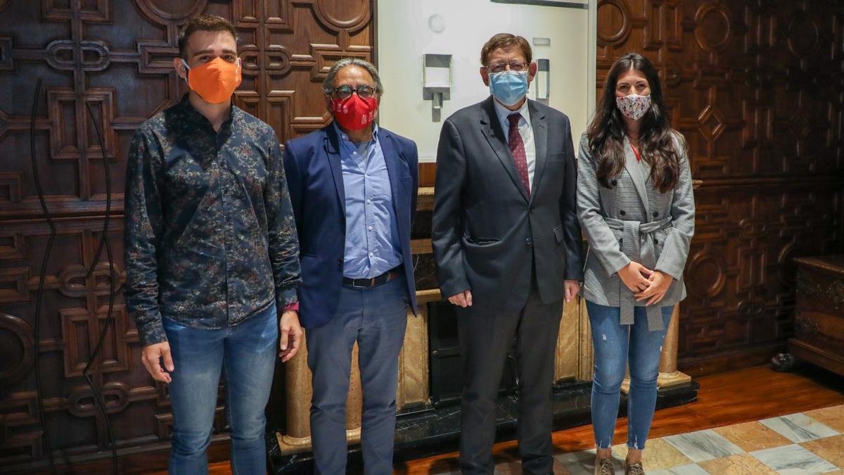 Recepción de Puig a los agentes sociales y a representantes políticos