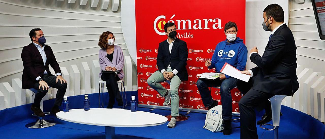 Los participantes en la mesa redonda, celebrada sin público y retransmitida por internet.
