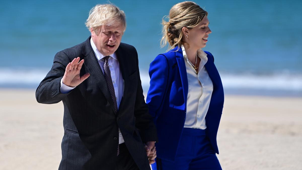 Boris y Carrie Johnson esperan su segundo hijo en común