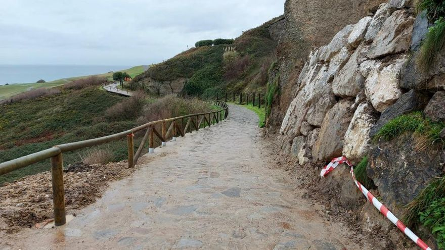 La senda del Cervigón ya vuelve a estar lista, tras el aragayo que cortó el paso