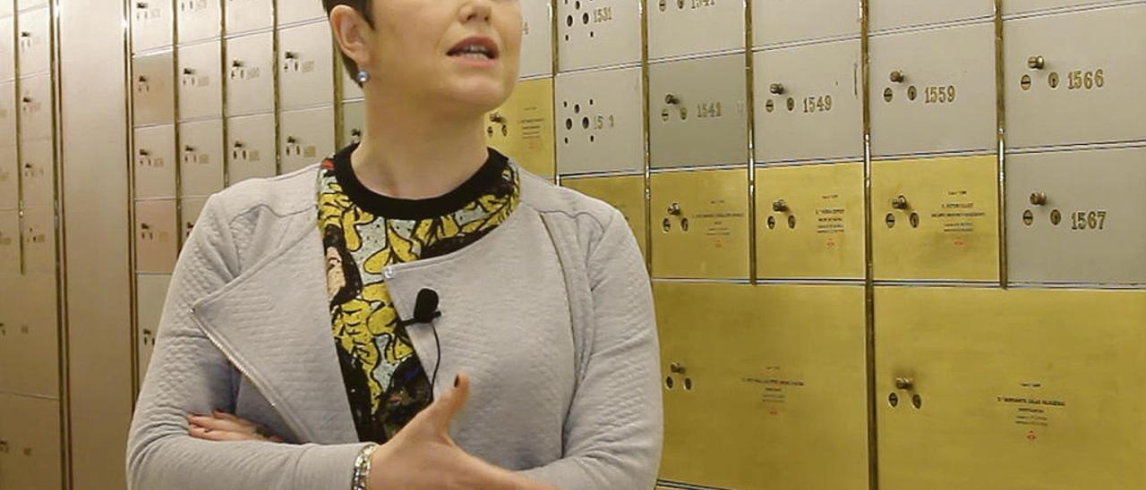 """Nuria Capdevila-Argüelles, en """"La caja de las letras"""" del Instituto Cervantes de Madrid."""