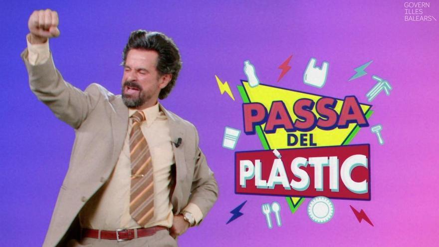 Así es 'Pasa del plástico', la campaña con aire ochentero del Govern
