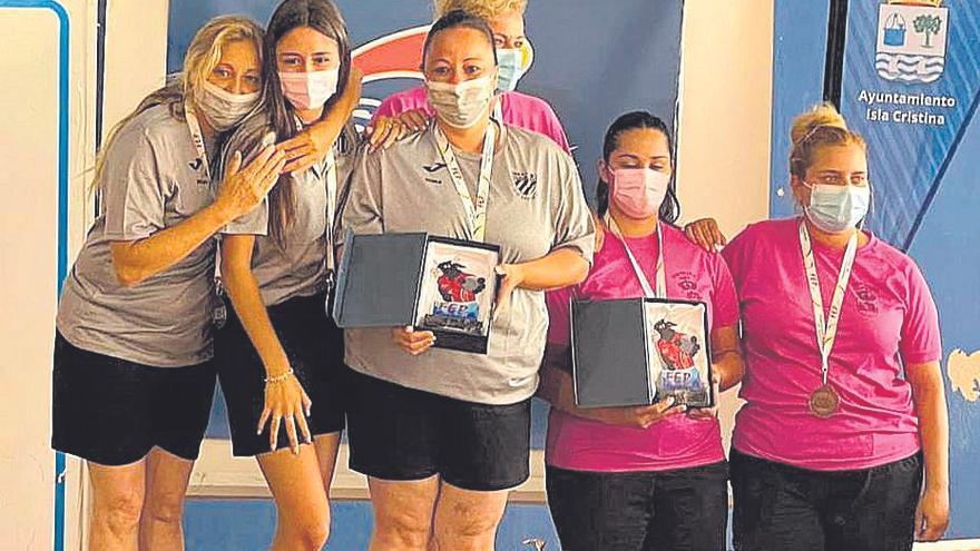 Bronce del Deportivo Bahía's enel Nacional de dupletas femenino