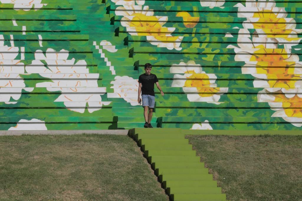 Mural del anfiteatro de sa Riera
