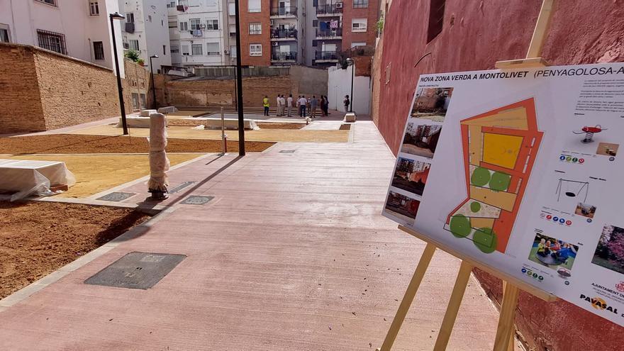 El nuevo jardín de la plaza de Sor Guillermina incrementa las zonas verdes de calidad en Monteolivete