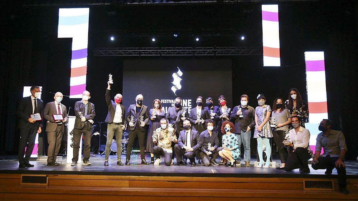 Imagen de los premiados en el último Festival de Cine de Alicante. |