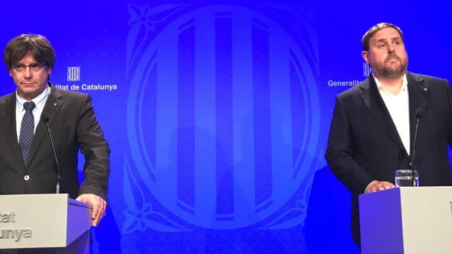 El debate con Puigdemont y Junqueras, en el aire