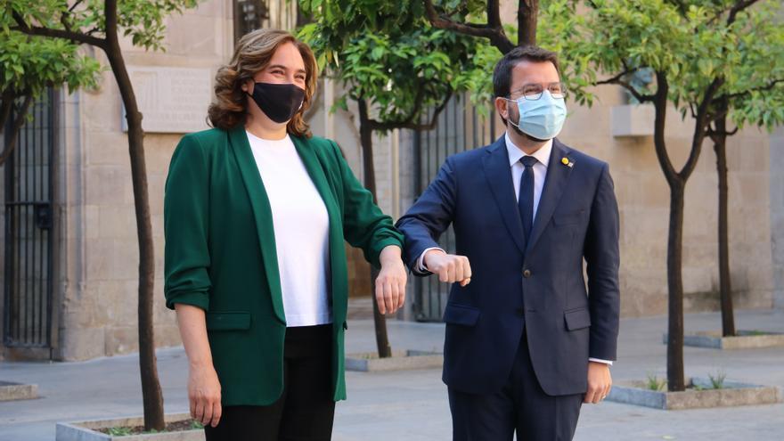 Aragonès i Colau reactiven la comissió bilateral que es reunirà el 18 de juny