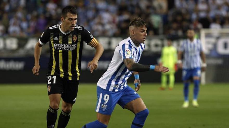 El Real Zaragoza se consolida como rey del empate en Málaga (1-1)