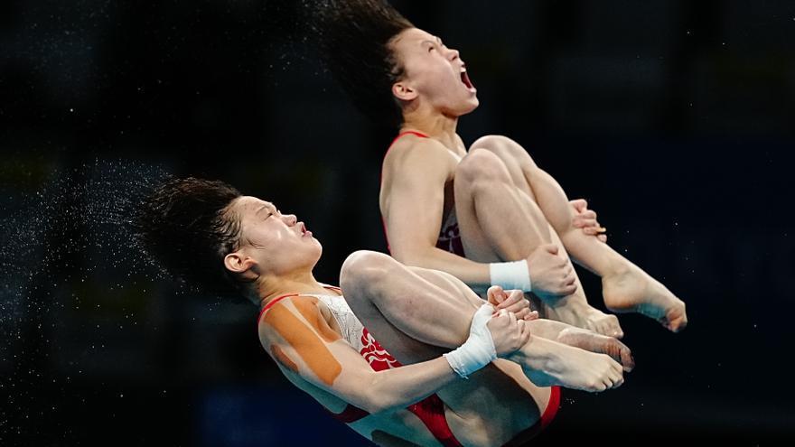 Las chinas Chen y Zhang, oro en la plataforma de 10 metros sincronizado
