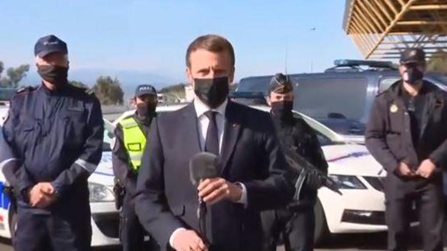 Macron anuncia des del Pertús el reforç policial a les fronteres de França