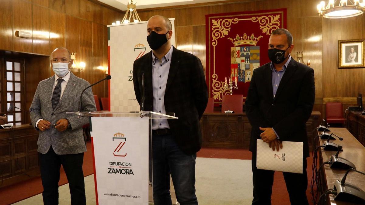 Rueda de prensa en la Diputación de Zamora sobre la biorrefineria de Barcial  del Barco.