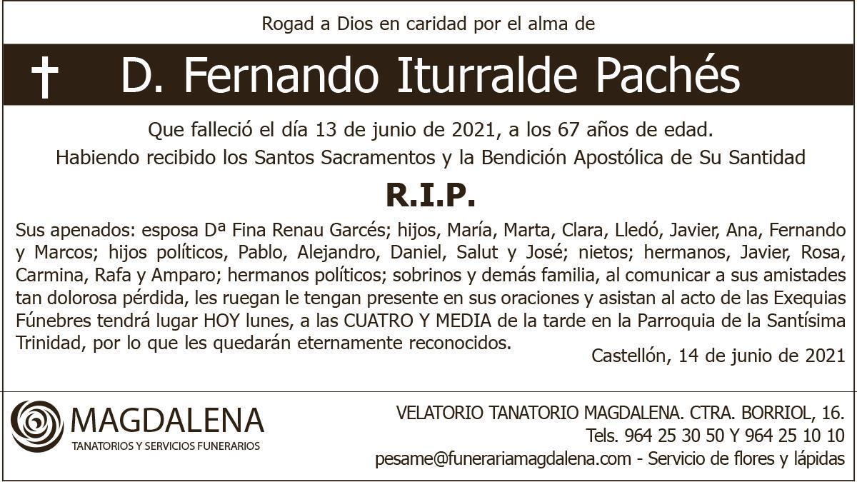D. Fernando Iturralde Pachés