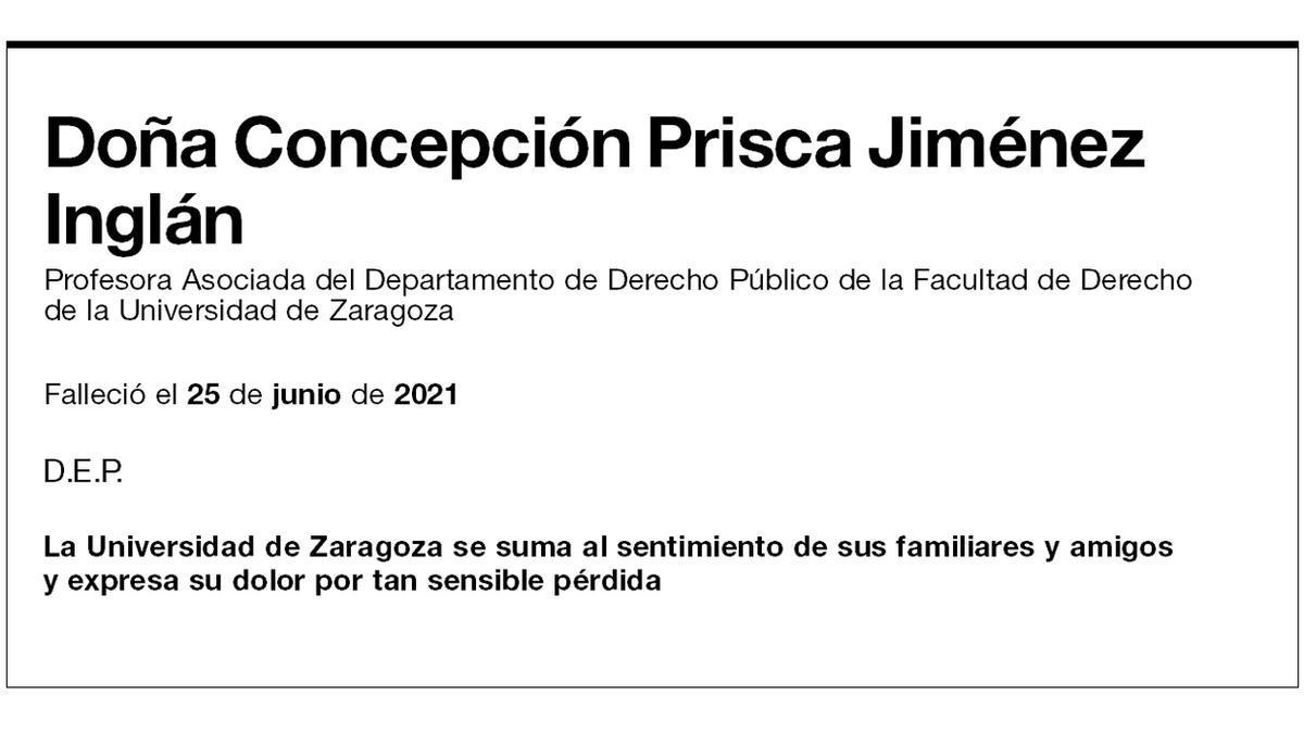 Concepción Prisca Jiménez Inglán