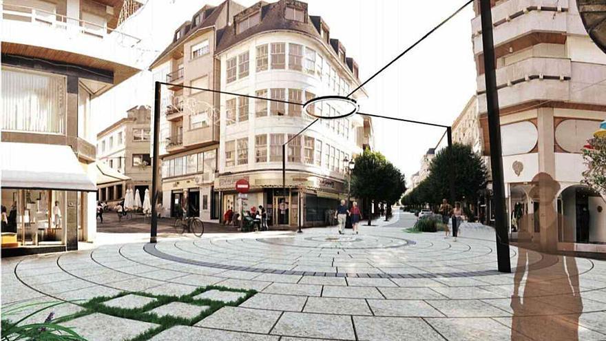 La nueva imagen del centro de Lalín