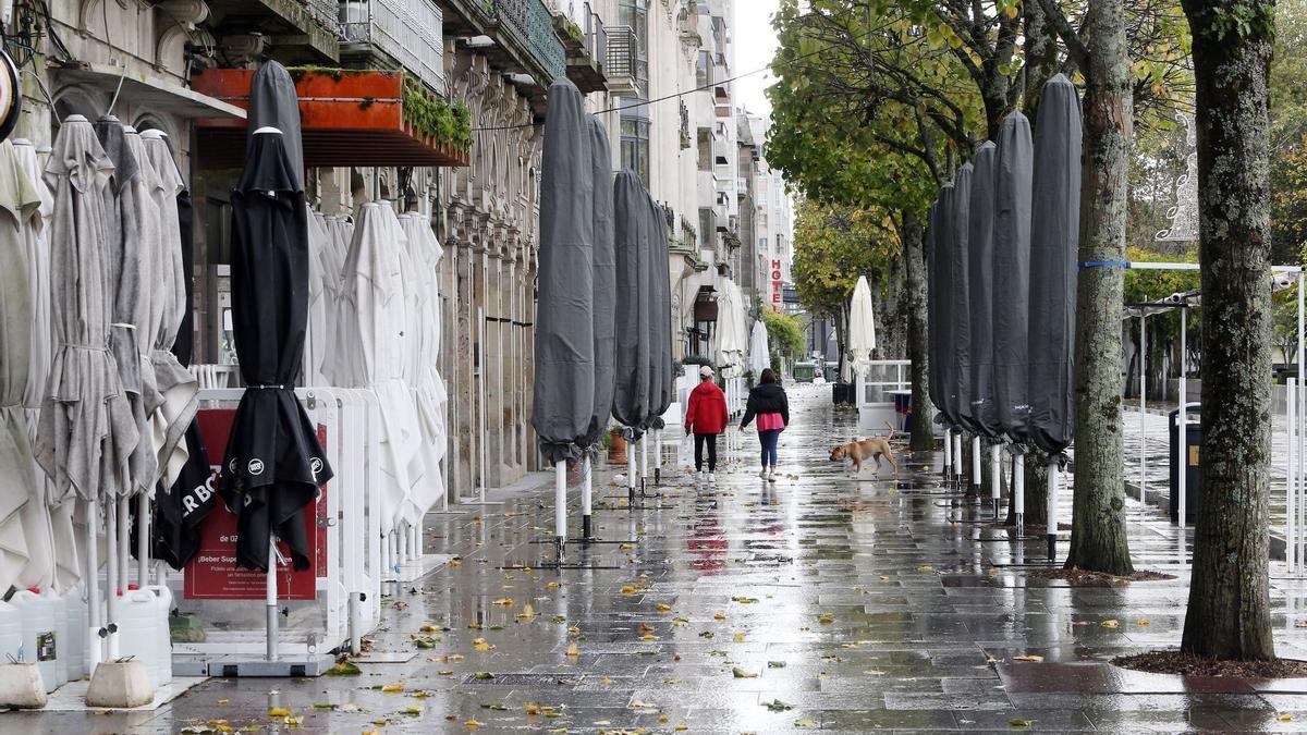Cierre de la hostelería en Vigo