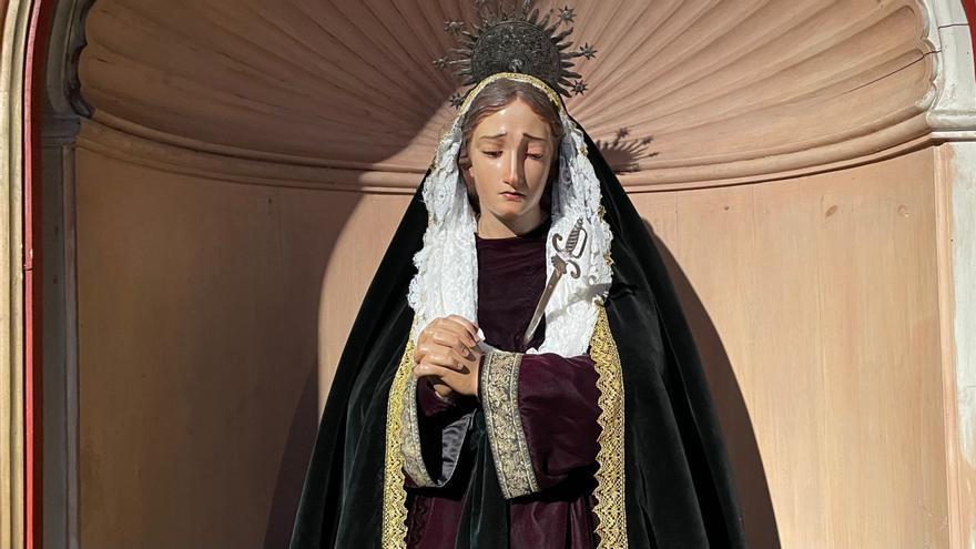 La Guardia Civil recupera el puñal de plata de la Virgen de los Dolores de Gáldar