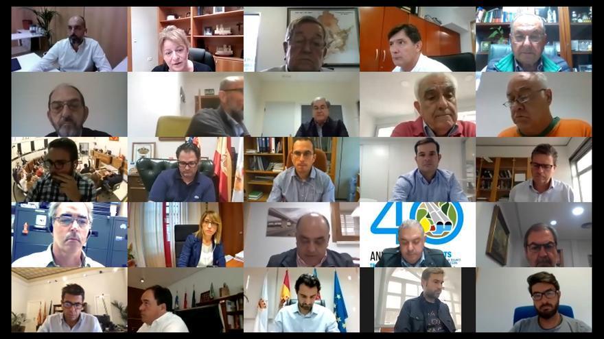Frente común de la comisión provincial del Agua contra los ataques al Tajo-Segura