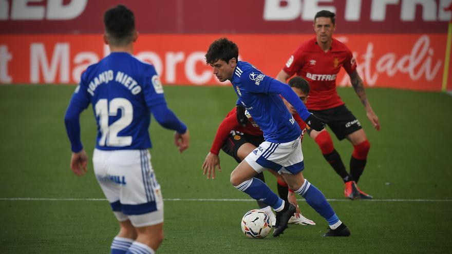 El partido del Real Oviedo ante el Mallorca, en imágenes