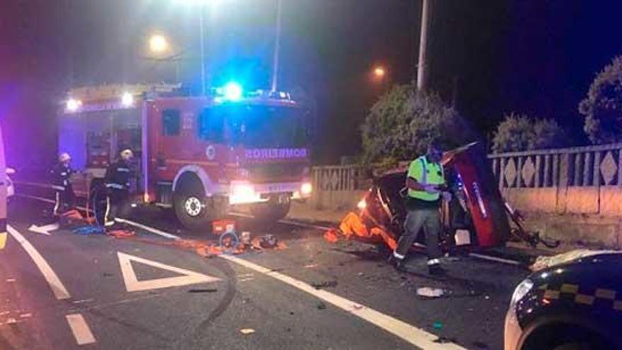 Muere un joven de Vilagarcía en un accidente de madrugada en Sanxenxo
