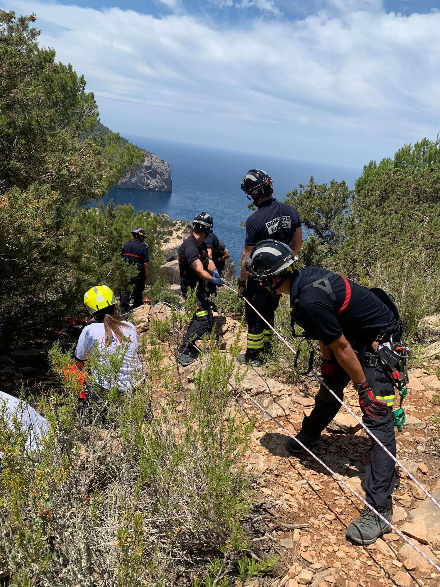 Escalada accidentada en Ibiza: tres personas resultan heridas, una de gravedad