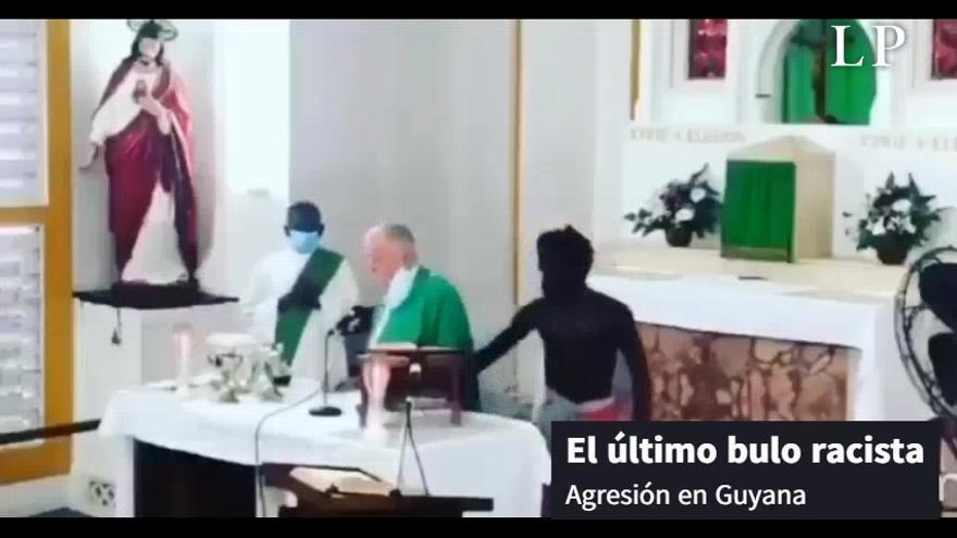 El último bulo racista: Un vídeo viral de una agresión a un cura que no es en Canarias sino en Guyana