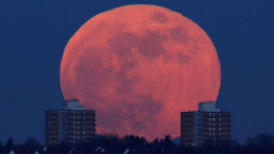 El día en que la luna se 'tiñó' de sangre