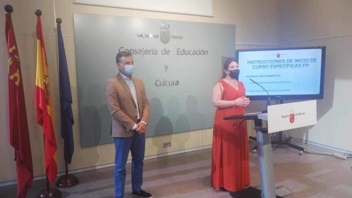 La consejera de Educación y Cultura, Esperanza Moreno, presentó hoy las novedades de FP para el próximo curso.