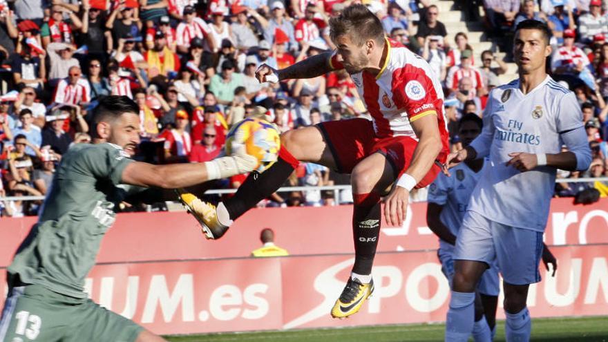El Girona, amb l'onze de gala al Santiago Bernabéu