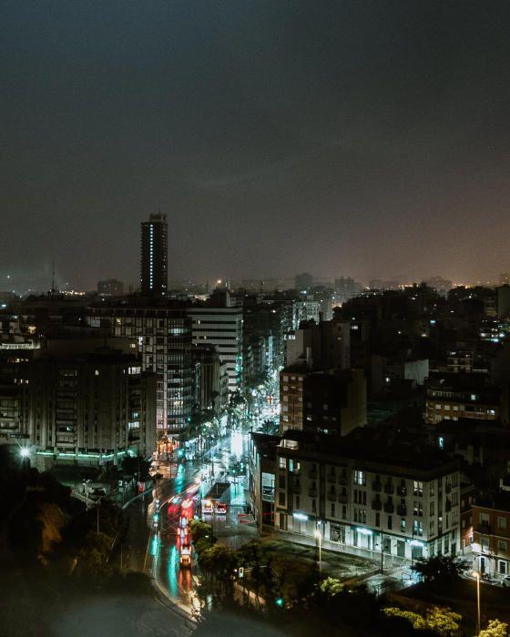 La gota fría ha dejado imágenes espectaculares de la ciudad