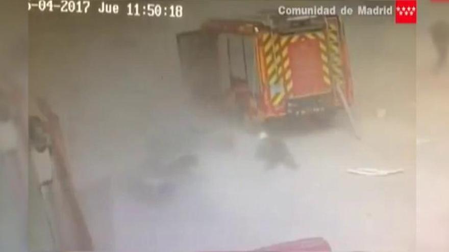 Así fue la brutal explosión en la empresa de Arganda