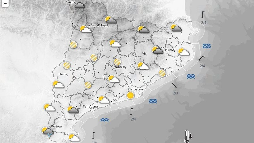 Canvi de temps aquest dilluns amb possibilitat de ruixats al nord-est
