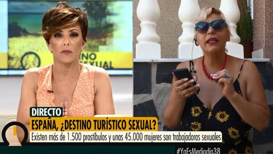 Una trabajadora sexual estalla en directo en 'Ya es mediodía'