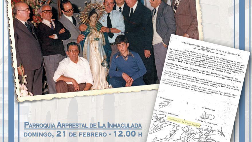 Los Hijos de la Inmaculada celebran este domingo el 40 aniversario de su acta fundación como asociación