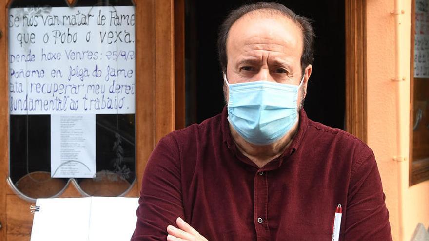 Un hostelero gallego, en huelga de hambre por su pub