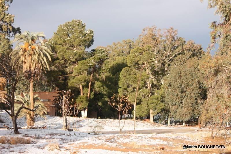 Nieve en el Sáhara