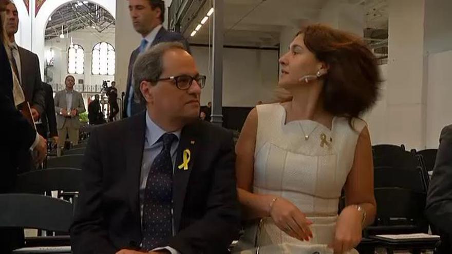 Smithsonian suspende los discursos de Torra y Morenés tras su incidente