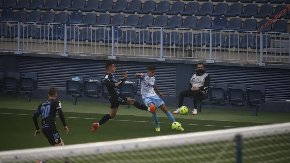 Partido de la Liga Smartbank entre el Málaga CF y el Almería