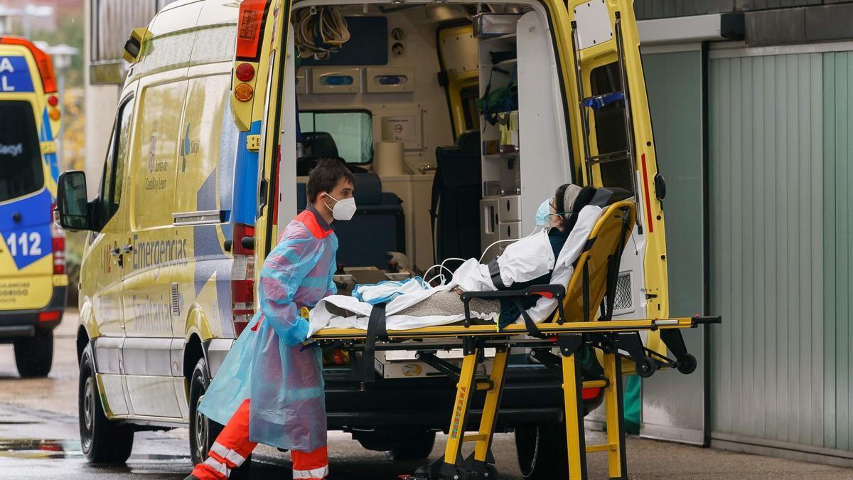 Ambulancia en Burgos.