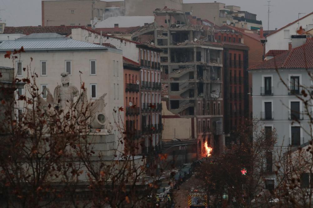 Explosió en un edifici del centre de Madrid