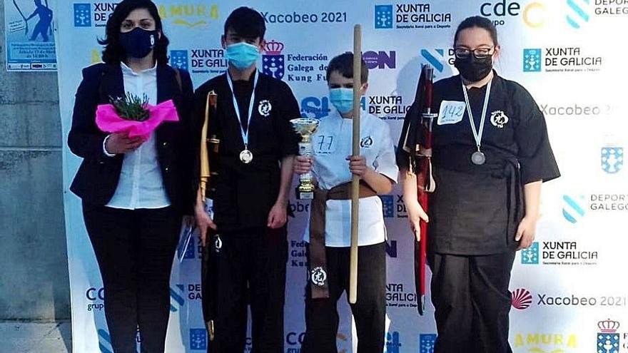 Lucas Casal, del Club Kung Tai de Lalín, gana el oro en el Escolar de A Valenzá