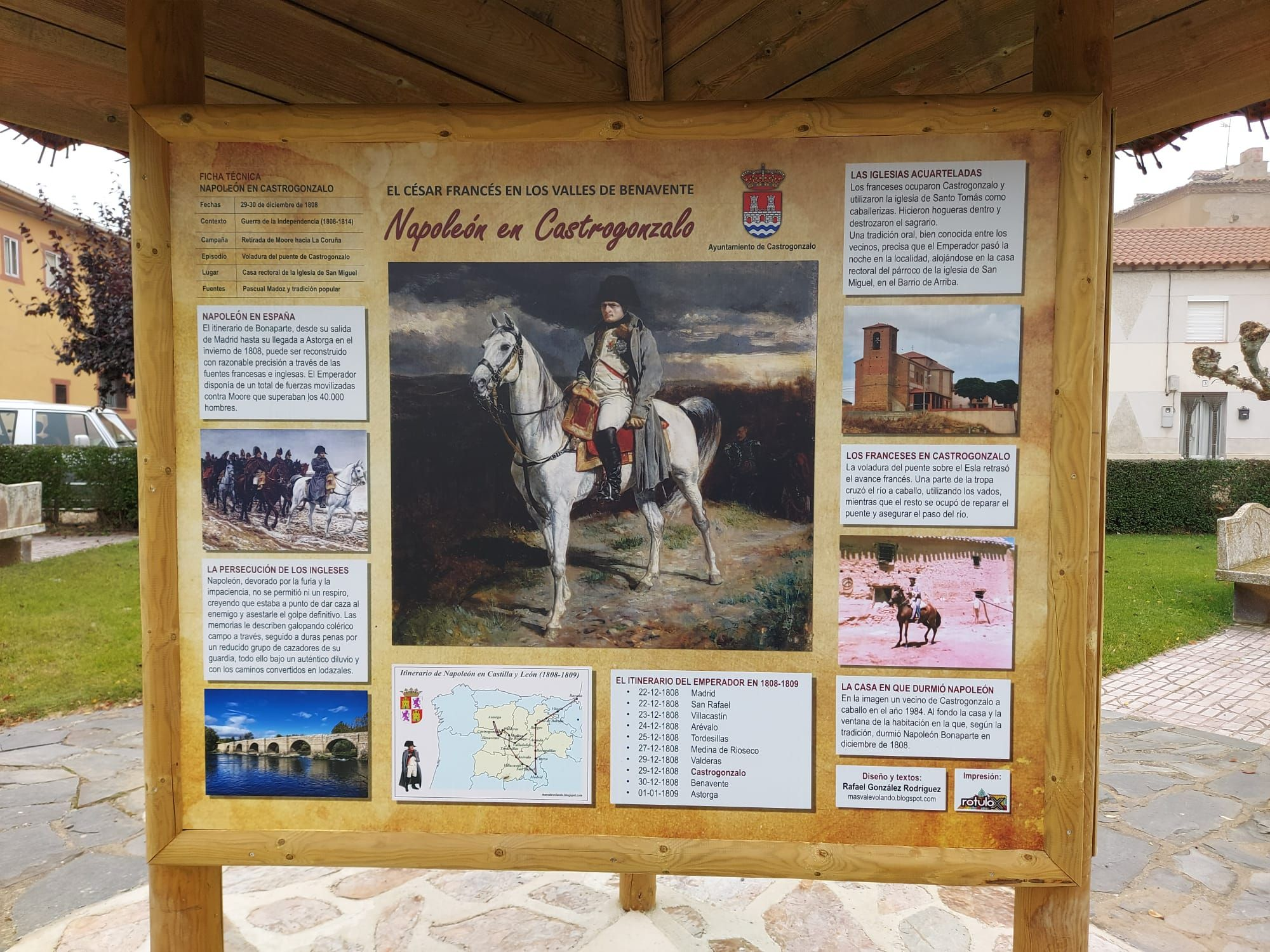 La Carrera de Benavente y la llegada de Napoleón persiguiendo a los ingleses.