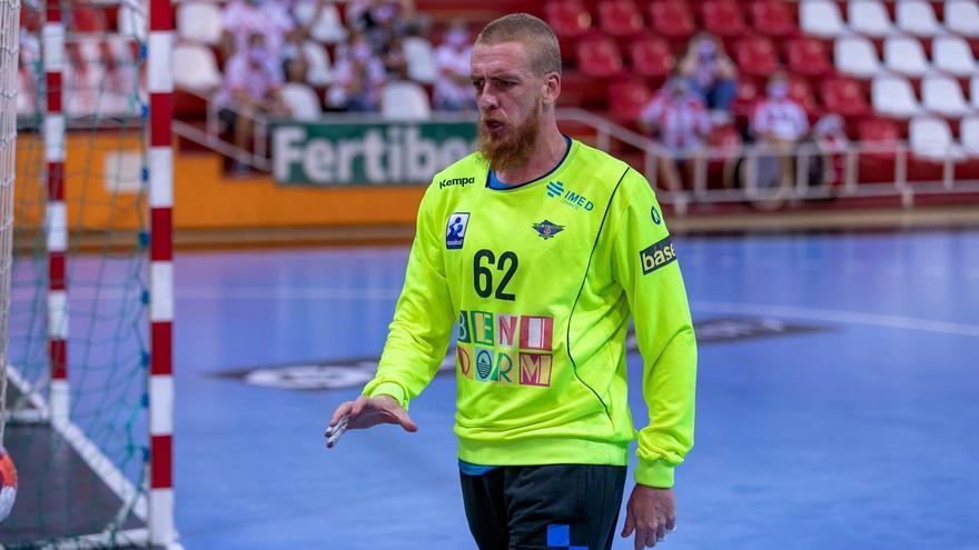 El portero del BM Benidorm Tercariol da positivo y se pierde el Mundial