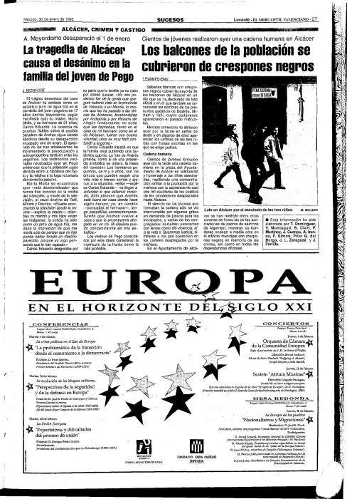 25 años crimen niñas Alcàsser, así lo contó Levante-EMV